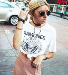 T-shirt with Print, Ramones, rock, tee