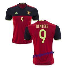 a9610dcae80 Christian Benteke 9 2016 Belgium Home Jersey Jason Denayer, Kevin Mirallas,  Soccer Fans,