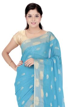 Pure Georgette Sari @ Rs.6,230.00   #Sarees #Sari #WomensFashion #Fashiontra