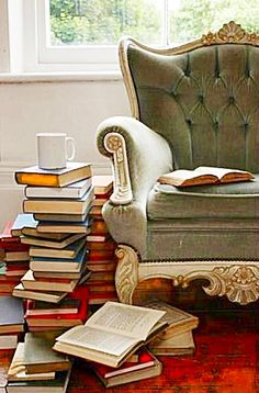 The end of the day stack. Coffee table optional.
