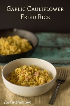 This Filipino Sinangag style garlic cauliflower fried rice makes a delicious and tasty breakfast. It's a great way to use up any leftover cauliflower rice. Banting Recipes, Ketogenic Recipes, Low Carb Recipes, Keto Foods, Ketogenic Diet, Atkins Recipes, Dukan Diet, Whole30 Recipes, Keto Meal