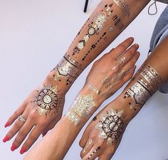 Great for festivals!! Metallic flash tattoo bohemian gypsy bling!!!