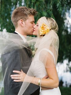 sheer head wrap with gold flower // photo by Sarah Joelle Photography // View more: http://ruffledblog.com/colorado-boho-wedding/
