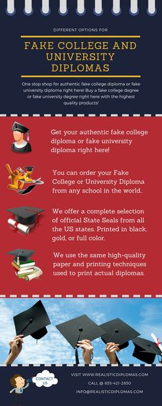 One stop shop for authentic fake college or fake university diploma right here! Buy a fake college degree or fake university degree right here with the highest quality products. Get your order online now from Realistic Diplomas!