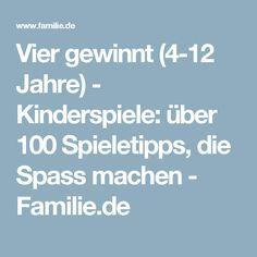 Vier gewinnt (4-12 Jahre) - Kinderspiele: über 100 Spieletipps, die Spass machen - Familie.de