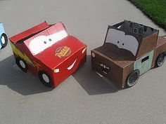 Cardboard cars for kids favors. :-)