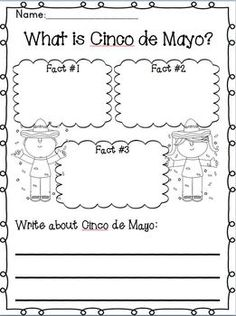 Cinco De Mayo Literacy Math Activities Freebie In The Download Preview O Spanish