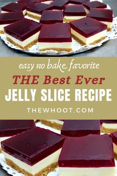 This Best Jelly Slice Recipe is a true crowd pleaser and it tastes every bit as good as it looks.
