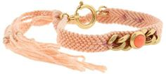 5. Juicy Couture Embellished Friendship Bracelet    Price: $38.00 at couture.zappos.com  This woven friendship bracelet features gold-tone chains. The focal point of the bracelet is the …