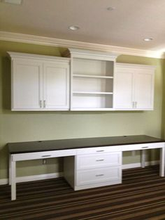 upper cabinets in office/playroom to keep kids out of work stuff