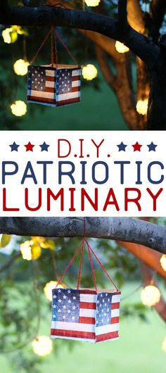 DIY Fourth of July Luminaries | Patriotic Craft Ideas | Americana | Red, White and Blue Decor Ideas | Outdoor Patriotic Decor
