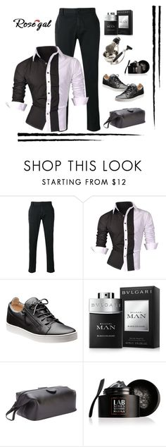 """Rosegal Men's Shirt Contest"" by lorrainekeenan ❤ liked on Polyvore featuring Armani Jeans, Bulgari, Royce Leather, Lab Series, Bey-Berk, men's fashion and menswear"