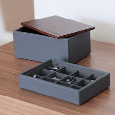 Buy Stackers Mini Charcoal Cufflink Box With Wooden Lid from our Jewellery Boxes & Rolls range at John Lewis & Partners. Jewellery Boxes, John Lewis, Charcoal, Cufflinks, Range, Mini, Gifts, Stuff To Buy, Accessories