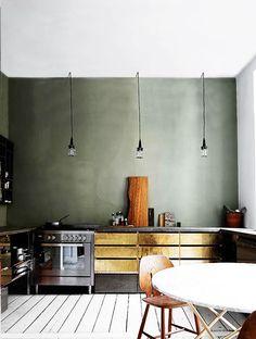 metallic lower kitchen cabinets / sfgirlbybay