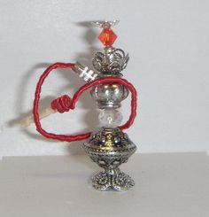 Red hookahminiaturedollhousescale 1/12 by LasMInisdeMaini on Etsy