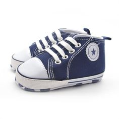 Newborn Baby Boys Girls Infant Toddler Lace-Up Comfortable Canvas Prewalker Summer Soft Sole Anti-slip Shallow Shoes