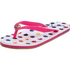 Juicy Couture Women`s Free Flip Flop,Pop Pink /Multi Color,7 M US $45.00