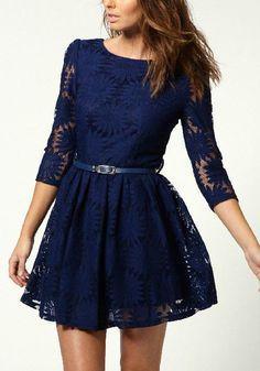 Sapphire Blue  Lace ~