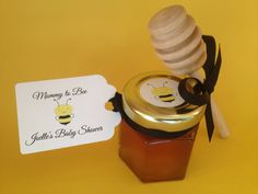48 Mommy To Bee Personalized Shower Favors 2 Ounces Of Pure Wildflower Honey Filled Hex Jar