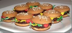 Nilla Wafers, chocolate burger, coconut lettuce, frosting...  Thanks Katrina!