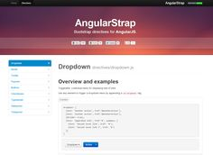 Angular Strap - Bootstrap directives for AngularJS