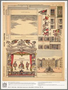 Petit Théatre (re-print) of a vintage original