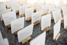 wine corks escort cards