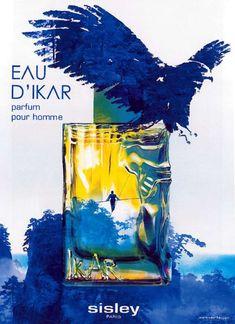 Advert of the fragrance Eau d'Ikar(2011) by Sisley