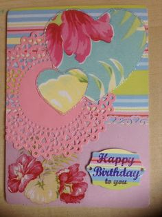 Pretty Floral Birthday Card - http://pink-tea-cup.blogspot.co.uk/