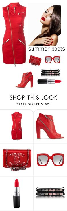 """""""Summer Boots"""" by kotnourka ❤ liked on Polyvore featuring Dsquared2, Maison Margiela, Chanel, Gucci, MAC Cosmetics and Marc Jacobs"""