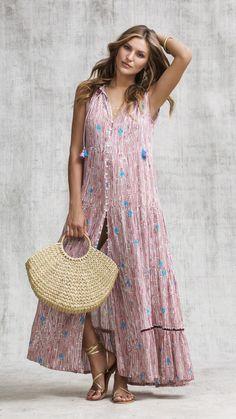 b06b0c3eca24 Long dress clara sleeveless - choco fanciful. LONG DRESS CLARA - CHOCO  FANCIFUL. Poupette St Barth