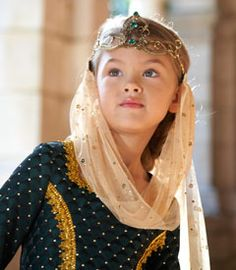 maid marian headpiece with veil child accessory - Chasing Fireflies