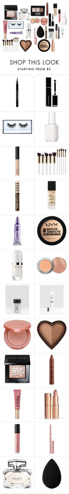 """Beautiful"" by groschsarah on Polyvore featuring beauty, Givenchy, NYX, Huda Beauty, Essie, NARS Cosmetics, Too Faced Cosmetics, Urban Decay, Marc Jacobs and Becca"