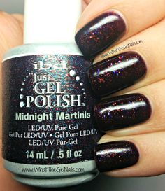 IBD Midnight Martinis plus more IBD gel polish colors for winter.