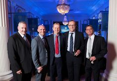 Colin McKinnon (Operations Director, Northern), Craig Smith (Construction Project Manager, Central), Mike Turner (MD, Timber Engineering), Martin Craig (Bid Manager, Eastern) and Kevin Donaldson (Project Director, Northern)