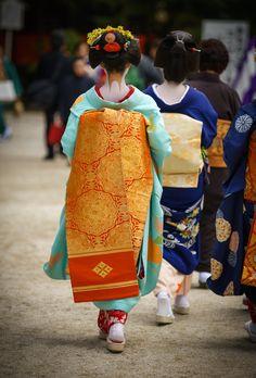 2015 舞妓 上七軒 勝奈さん だらりの帯 2015 maiko, Kamishichiken, Katsuna