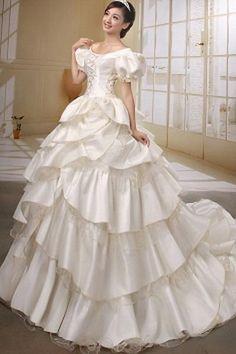 Luxury Ball Gown Off Shoulder Wedding Dress