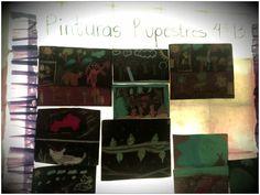 Trabajo de Pinturas Rupestres en mis alumnos de 4 grado, nivel primaria.