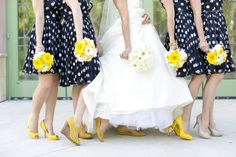 Love the navy and yellow for a wedding