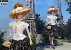 "Robe Barbie "" Julienne "" Tenue pour poupée Barbie Silkstone Fashion Royalty…"