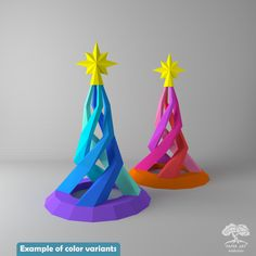 Spiral Christmas Tree Papercraft PDF Pattern / DIY Xmas Low poly paper tree origami/ Pine conifer for winter holiday decor or adult gifts 3d Paper Art, 3d Paper Crafts, Paper Tree, Paper Artwork, Diy Crafts, Spiral Christmas Tree, Xmas Tree, Diy Christmas Gifts, Christmas Tree Decorations