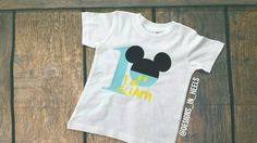 Check out this item in my Etsy shop https://www.etsy.com/listing/230994891/mickey-inspired-custom-birthday-onsie-t