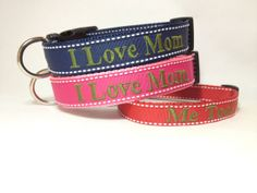 Personalized mothers day gift  Dog Collar by TheMonogrammedMutt, $28.00