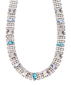 Look what I found on #zulily! Blue Crystal & Silvertone Star Choker Necklace #zulilyfinds