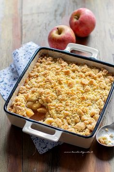 Apple Crumble: the original English recipe for the perfect Apple Crumble! - Apple Crumble: the original English recipe for the perfect Apple Crumble! Best Picture For stir fr - Italian Desserts, Just Desserts, Menu Brunch, Easy Cooking, Cooking Recipes, Sweet Recipes, Cake Recipes, My Favorite Food, Favorite Recipes