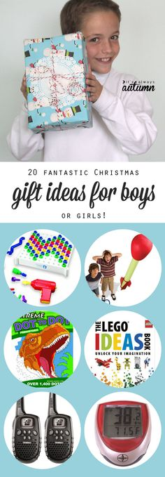 20 best Christmas gift ideas for boys - great suggestions! Fun presents kids will actually enjoy - great ideas for boys OR girls