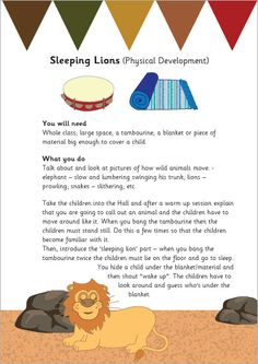 Sleeping Lions Activity Sheet
