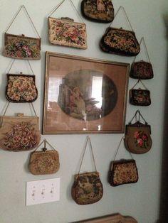 vintage petit point handbag collection - women's designer handbags sale, red handbags, purse womens *ad