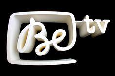 3D printed logo. Be Tv Belgian TV channer