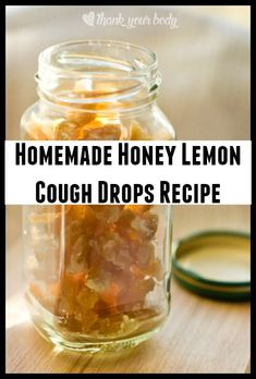 Natural Remedies For Cough Homemade Honey Lemon Cough Drops - Dealing with a sore throat can be painful and frustrating. Next time you start to feel that tickle - try out these homemade honey lemon cough drops with ginger. Sore Throat Remedies, Natural Cough Remedies, Flu Remedies, Herbal Remedies, Health Remedies, Insomnia Remedies, Home Remedy For Cough, Cold Home Remedies, Home Made Cough Drops